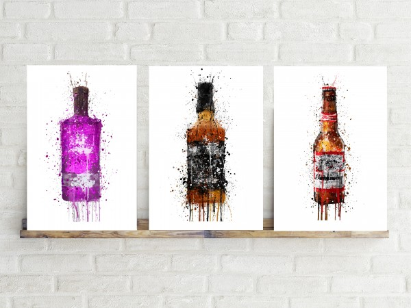 Alcohol Splatter Art Canvas prints