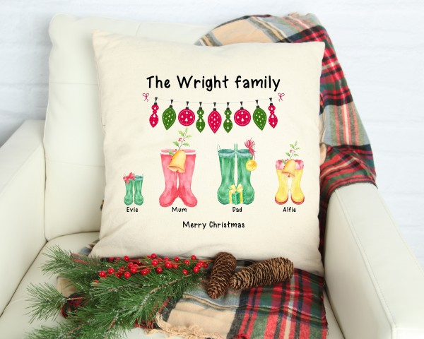 Christmas Welly Cushion