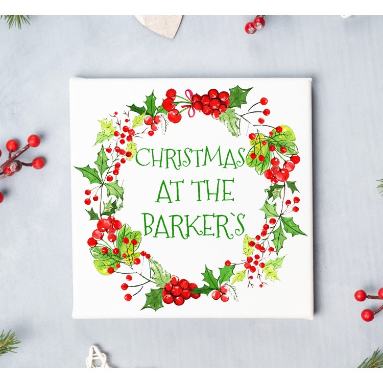 Christmas wreath Canvas