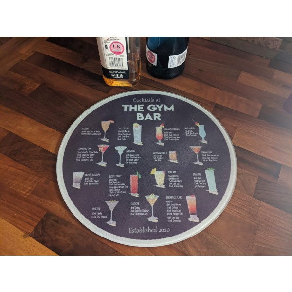 Cocktail Round Chopping Board