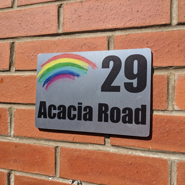 Aluminium Graphic House Signs