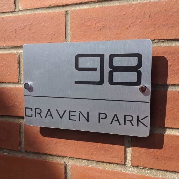 Aluminium Contemporary Sign