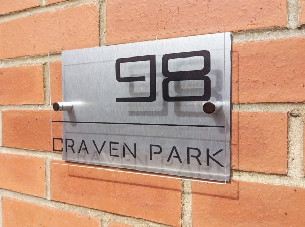 Aluminium and Acrylic Contemporary Sign