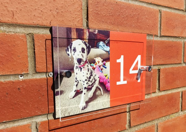 Aluminium and Acrylic Pet House Sign
