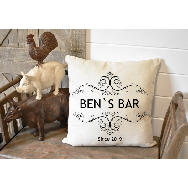Luxury linen pub cover - Vintage Bar