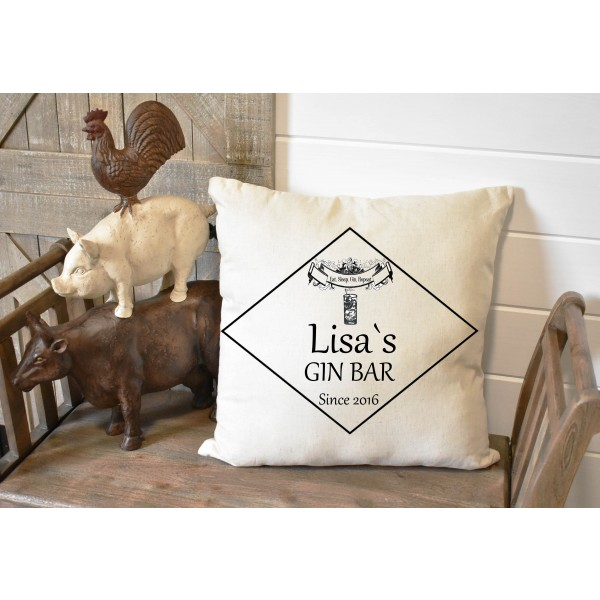 Luxury linen pub cover - Gin Bar