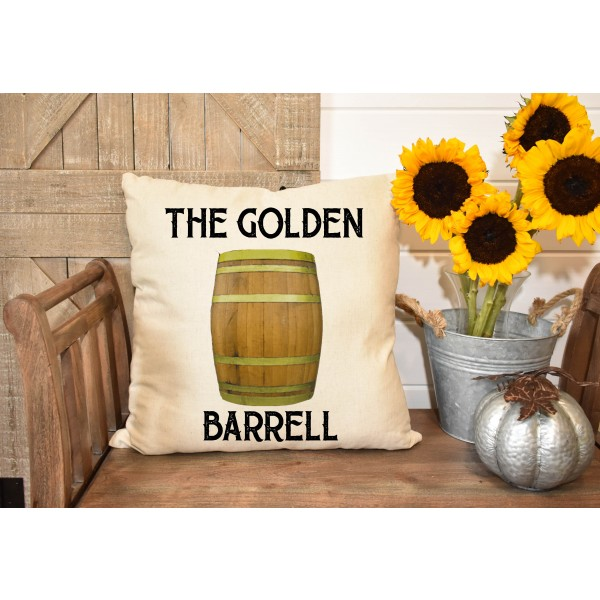 Luxury linen pub cover - Golden Barrell