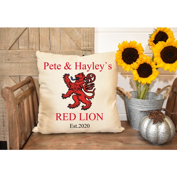 Luxury linen pub cover - Red Lion