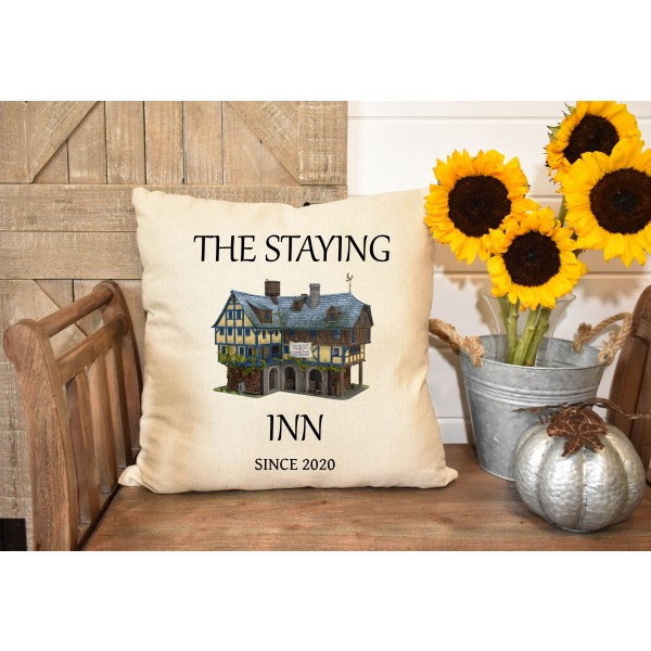Luxury linen pub cover - Staying Inn