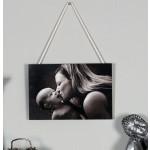 Rustic hanging photo panel