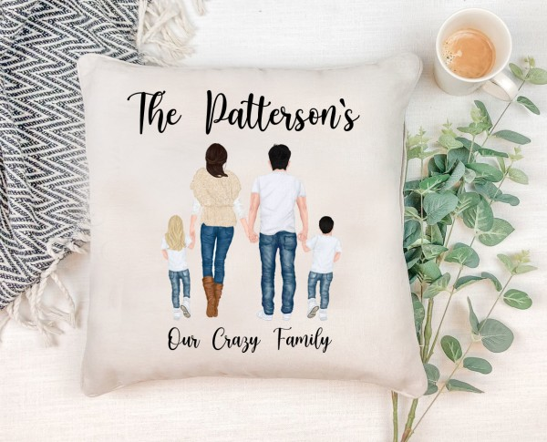 Watercolour Family Cushion