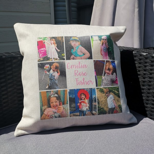 8 Image plus text Cushion