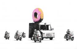 Donut-police-escort