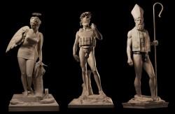 Three-statues