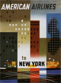American Airlines to New York Poster-1940
