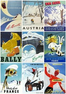 Mid-century-ski-posters