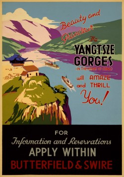 Yangtze Gorges Travel Poster 1930